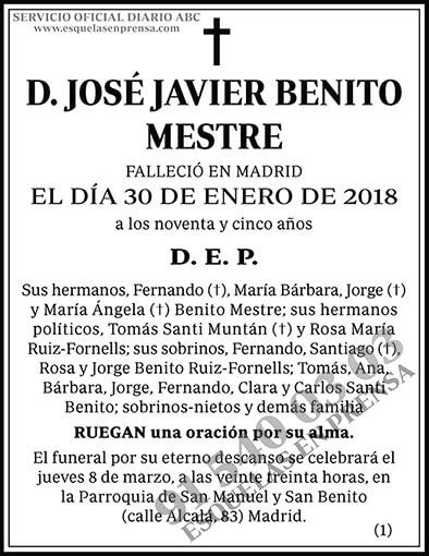 José Javier Benito Mestre
